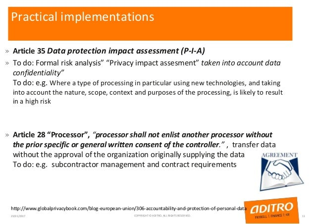 """Practical implementations » Article 35 Data protection impact assessment (P-I-A) » To do: Formal risk analysis"""" """"Privacy i..."""
