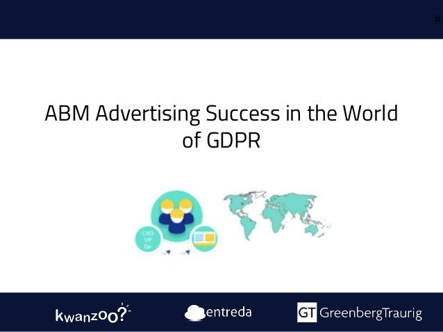 ABM Advertising Success in the World of GDPR #