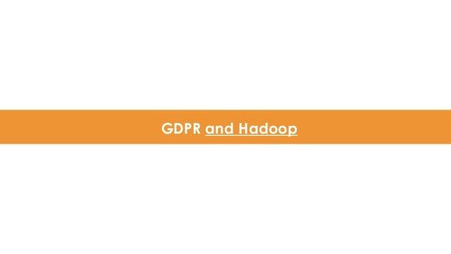 GDPR and Hadoop