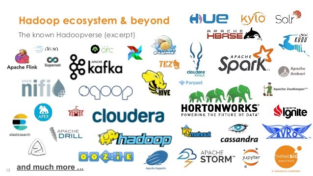 13 Hadoop ecosystem & beyond The known Hadoopverse (excerpt) and much more ...