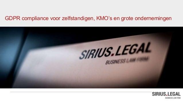 GDPR compliance voor zelfstandigen, KMO's en grote ondernemingen