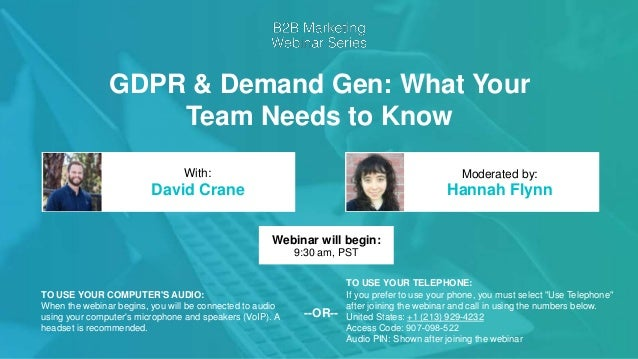 GDPR & Demand Generation: What Your Team Needs To Know