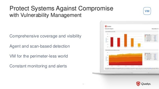 Protect Systems Against Compromise with Vulnerability Management Comprehensive coverage and visibility Agent and scan-base...