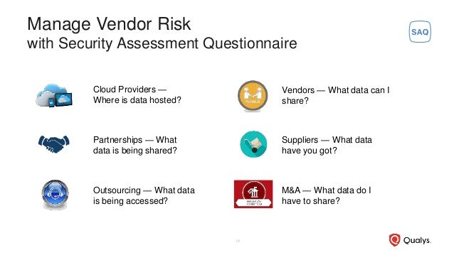 Cloud Providers — Where is data hosted? Partnerships — What data is being shared? Outsourcing — What data is being accesse...