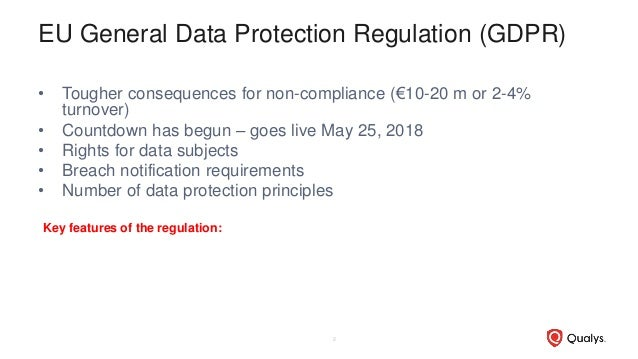 Webcast Series #3: GDPR Deadline Readiness and Impact to Global Organizations Outside the EU Slide 2