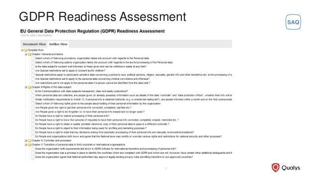 GDPR Readiness Assessment 8