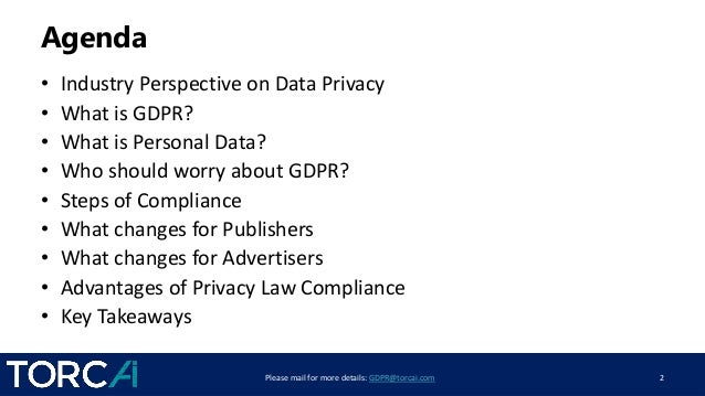 Understanding GDPR Compliance - What it Means for Publishers and Advertisers Slide 2