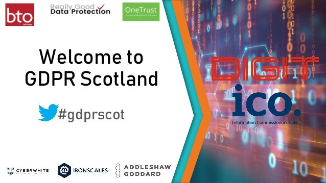 Welcome to GDPR Scotland #gdprscot