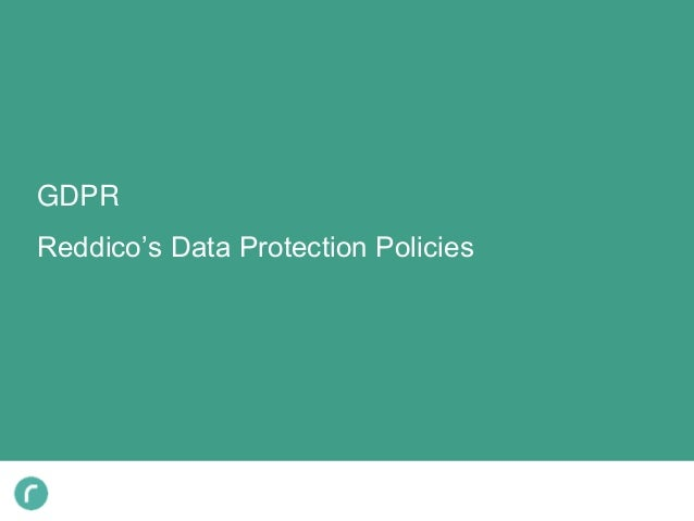 GDPR Reddico's Data Protection Policies
