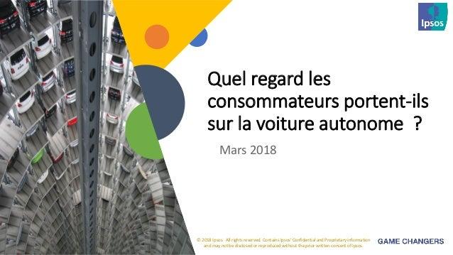 Voitures autonomes : les Français intéressés mais pas convaincus