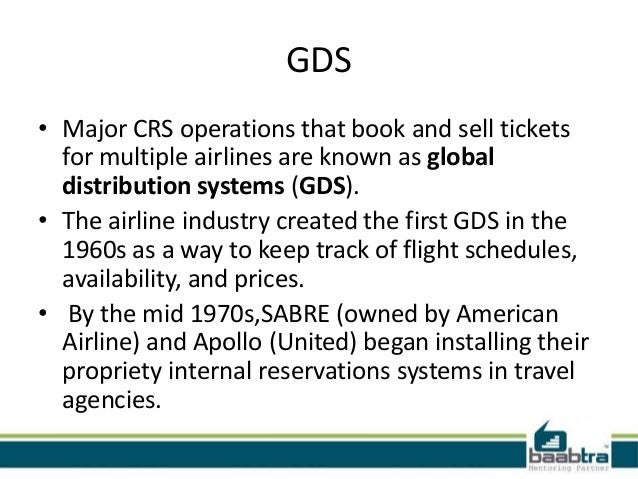 gds global distribution system introduction Introduction of gds representation services & global distribution system : any hotel or property can be booked electronically by travel agents if it's connected to.