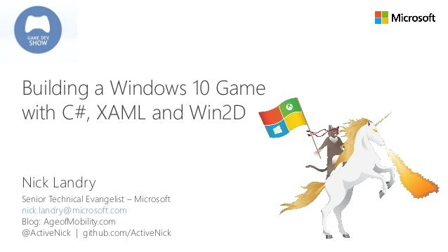 Building a Windows 10 Game with C#, XAML and Win2D