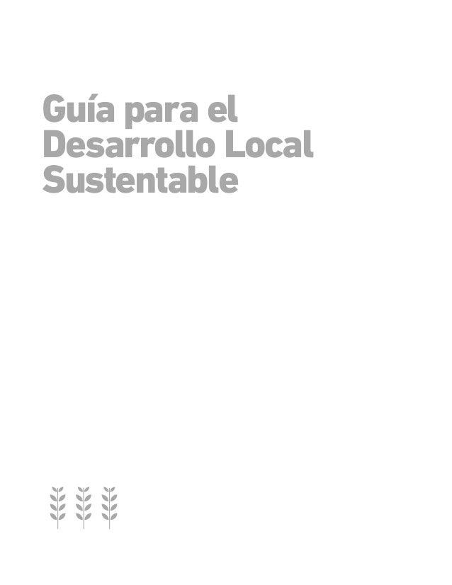 Guia para el desarrollo local sustentable Slide 3