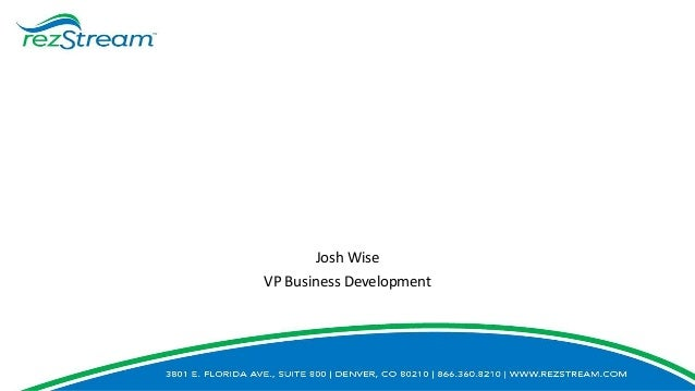 Josh Wise VP Business Development