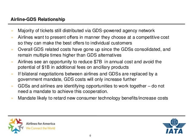 Airline-GDS Relationship» Majority of tickets still distributed via GDS-powered agency network» Airlines want to present o...