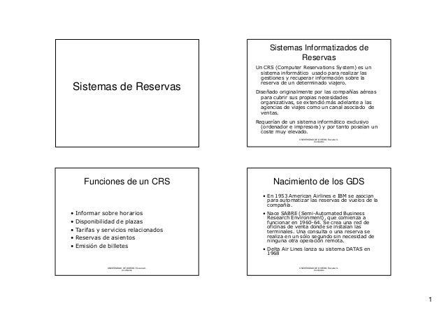 Sistemas Informatizados de                                                              Reservas                          ...
