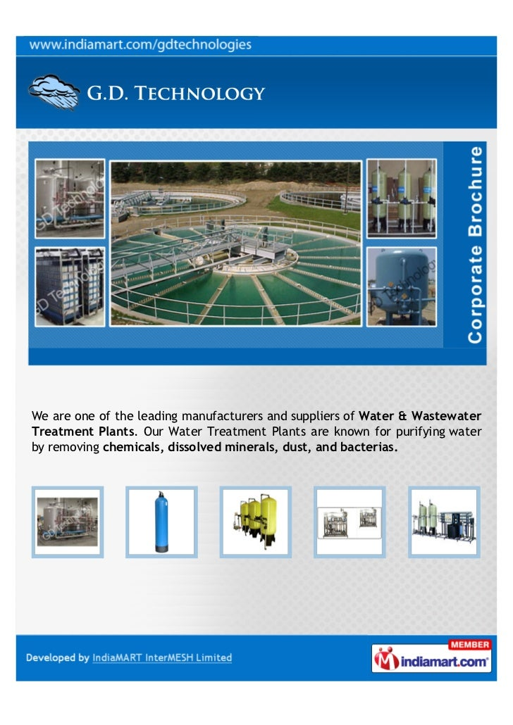 We are one of the leading manufacturers and suppliers of Water & WastewaterTreatment Plants. Our Water Treatment Plants ar...