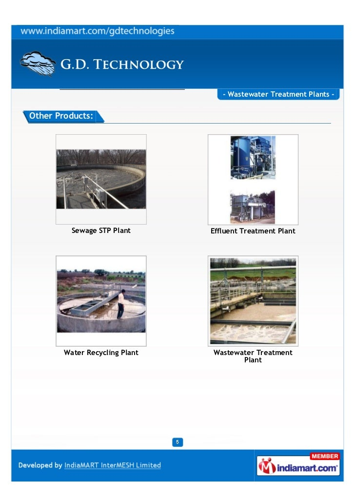 - Wastewater Treatment Plants -Other Products:          Sewage STP Plant      Effluent Treatment Plant        Water Recycl...