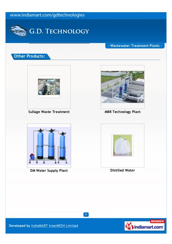 - Wastewater Treatment Plants -Other Products:      Sullage Waste Treatment   MBR Technology Plant       DM Water Supply P...