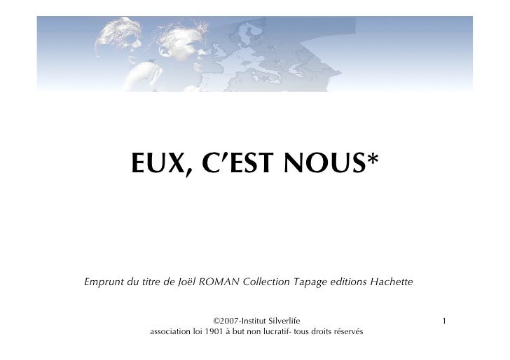 EUX, C'EST NOUS*   Emprunt du titre de Joël ROMAN Collection Tapage editions Hachette                                  ©20...