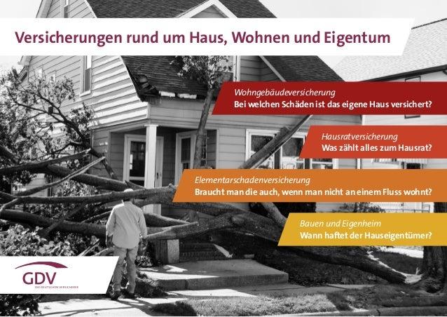 1 Versicherungen rund um Haus, Wohnen und Eigentum Wohngebäudeversicherung Bei welchen Schäden ist das eigene Haus versich...