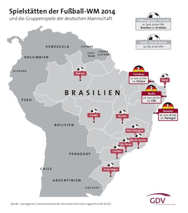 Quelle: www.gdv.de | Gesamtverband der Deutschen Versicherungswirtschaft (GDV) Natal Belo Horizonte Manaus B R A S I L I E...