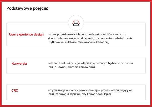 Podstawowe pojęcia: User experience design proces projektowania interfejsu, estetyki i zasobów strony lub sklepu interneto...