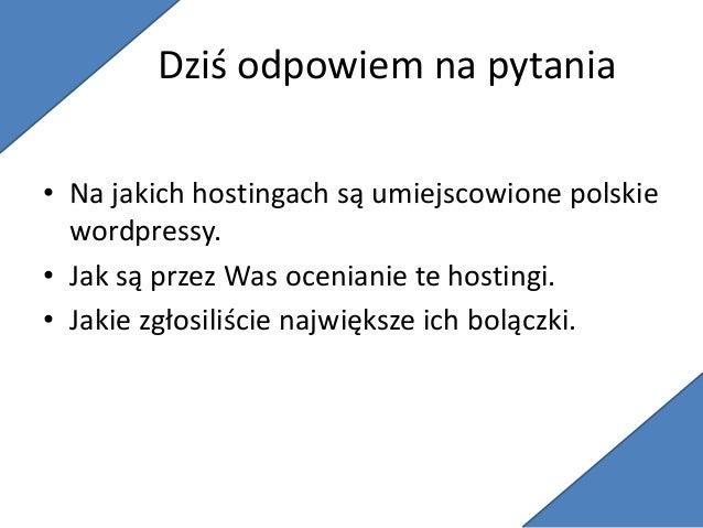Gdzie są umiejscowione polskie wordpressy Slide 2