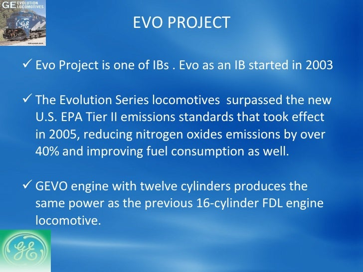 ge s ib the evo project essay