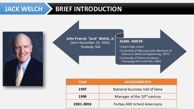 ges two decade transformation jack welchs lea Case analysis of ge's two decade transformation: jack welch's leadership by meg wozny and christopher a bartlett problem identification since he became the ceo of general electric in april 1981, jack welch would use many of the lessons from his childhood when formulating his leadership style.
