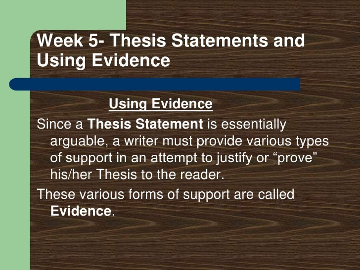 5 types of weak thesis statements