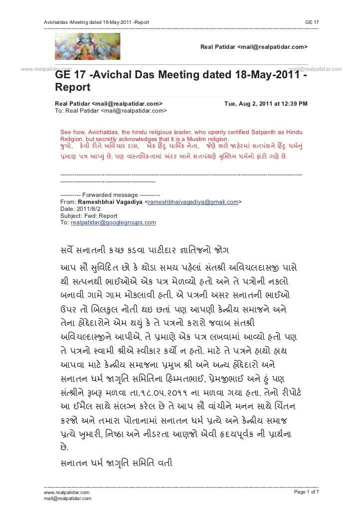 Avichaldas -Meeting dated 18-May-2011 -Report                                                                             ...
