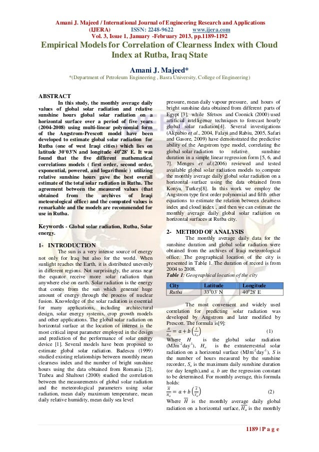 Amani J. Majeed / International Journal of Engineering Research and Applications                     (IJERA)             I...