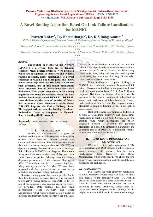 Praveen Yadav, Joy Bhattacharjee, Dr. K S Rahguwanshi / International Journal of Engineering Research and Applications (IJ...