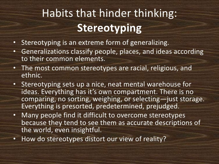 habits that hinder thinking The power of habits in our lives cannot be overstated it is central to what we make of our lives in order to lead a successful, productive and happy life, we need to eliminate these 4 habits that hinder success.