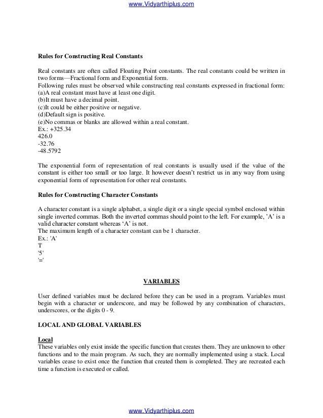 computer programming notes Fundamentals of computer programming with c#.