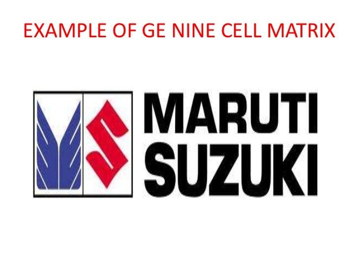 ge nine cell matrix strategic management