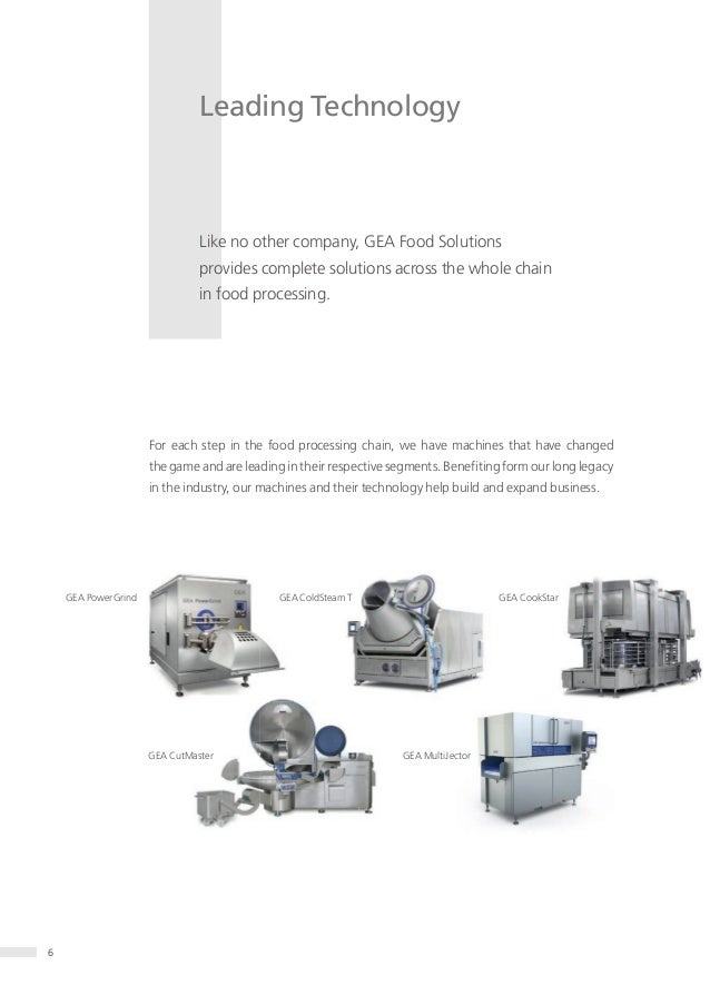 GEA Food Solutions Product and application guide