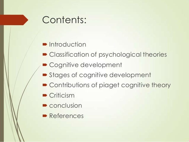 an analysis of jean piagnets theory of cognitive development of children Support and criticism of piaget's stage  jean piaget's theory of cognitive development is well-known  new era of research on the mental development of children.