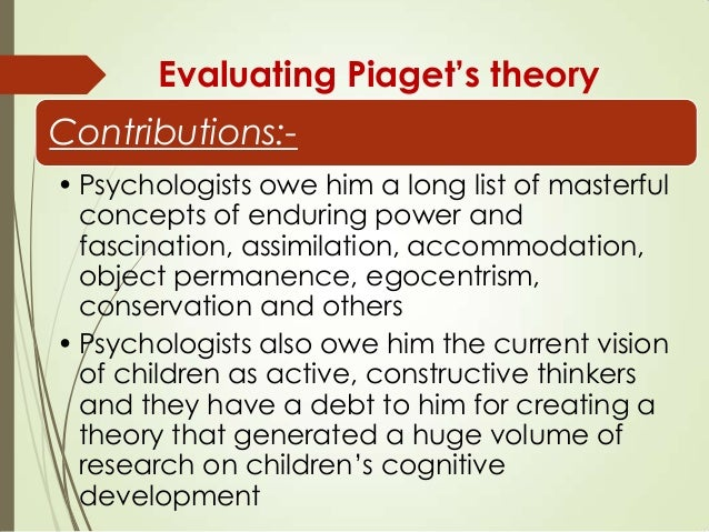 opinions on piaget cognitive development theory Theories of cognitive development how children develop (4th) chapter 4 what is a theory a logically self-consistent  of cognitive development piaget's theory of.