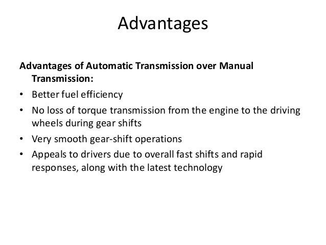 gearbox in automobile rh slideshare net benefits of manual transmission over automatic advantage of manual transmission vs automatic