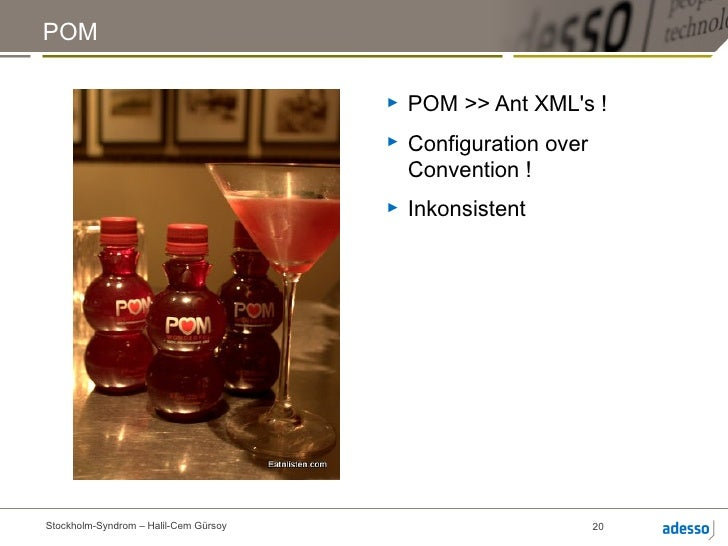 POM                                       ►   POM >> Ant XMLs !                                       ►   Configuration ov...