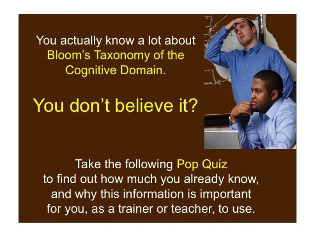 Gearing Up  for Bloom's! An Introduction to Higher Order Thinking Skills Slide 3