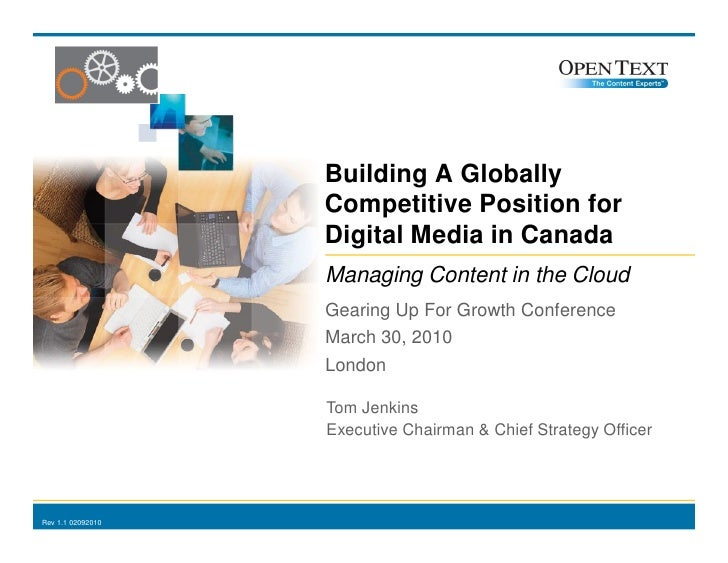 Building A Globally                                                        Competitive Position for                       ...