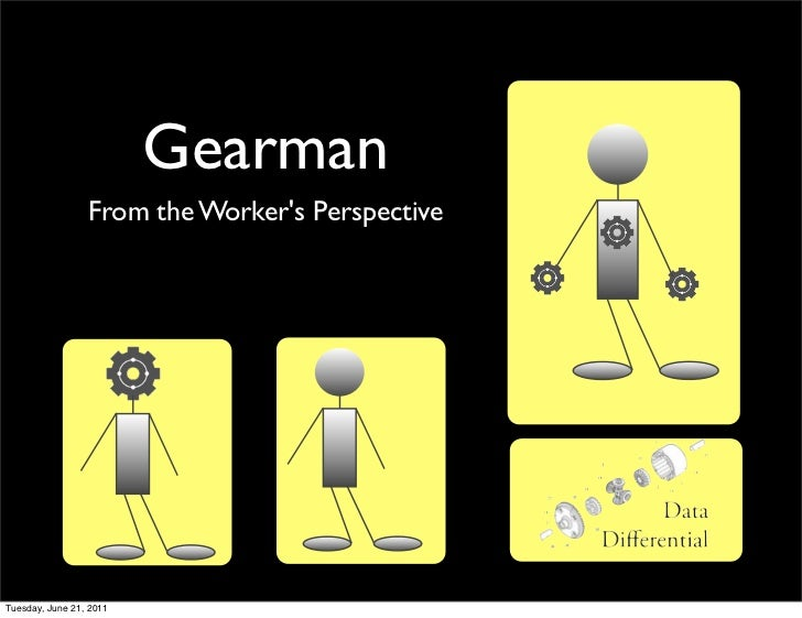 Gearman                 From the Workers PerspectiveTuesday, June 21, 2011