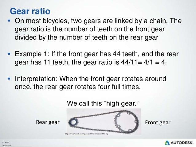 Gears and energy – Gear Ratio Worksheet