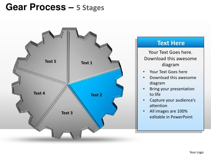 Gears cogs mechanical process 5 stages powerpoint templates powerpoint your logo 5 toneelgroepblik Images