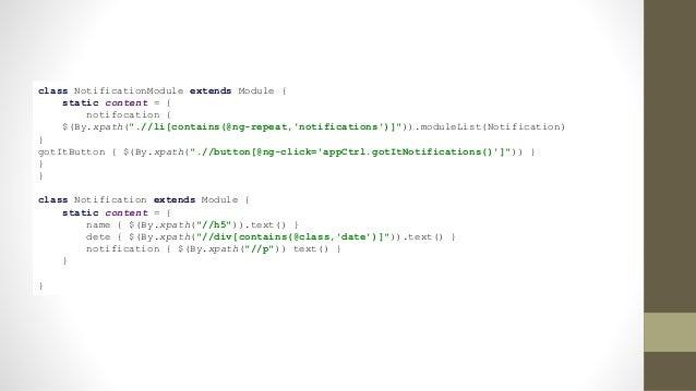 "waitFor examples waitFor{ $(""div.alert"").displayed } waitFor{ $(""div.message"").text()==""Updatesuccessful"" }"