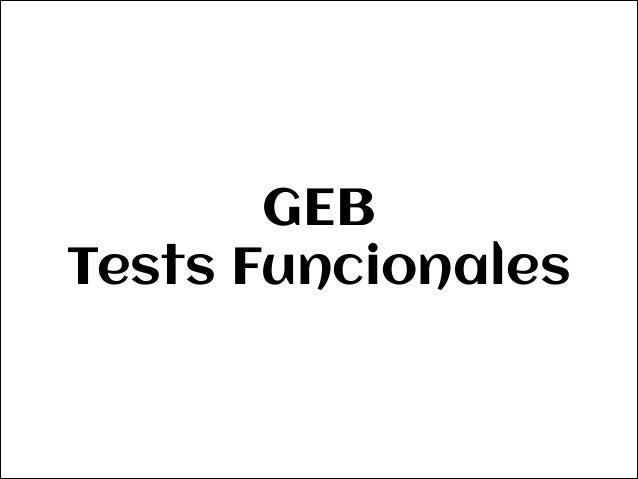 Functional Tests with Geb Slide 2