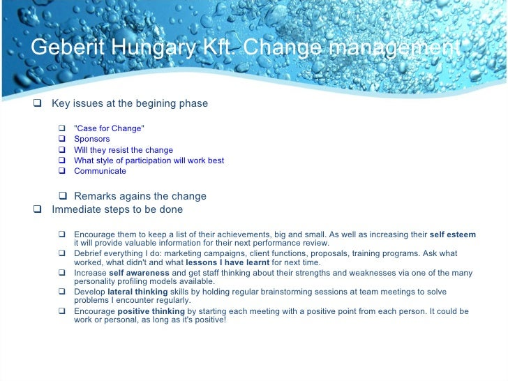 resistance to change case study of perrier 2identify two (2) sources of resistance to change in the perrier case study and describe how the organization dealt with each type of resistance 3compare and contrast how management diagnosed and approached change at the two (2) companies and indicate which company dealt with resistance to change in a more.